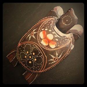 Sea Turtle Handmade Wooden Painted Jewelry Box